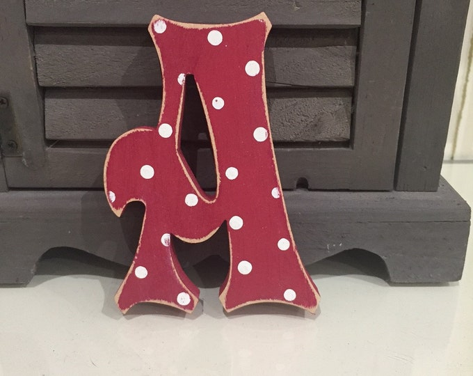 Wooden Letter 'A' -  30cm x 9mm - Fairytale Font - various finishes, standing