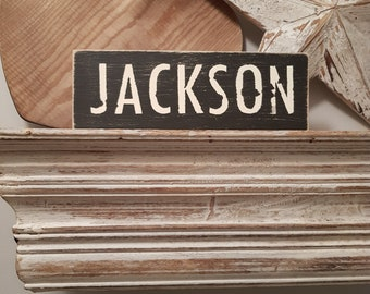Painted Wooden Sign - Custom Sign, City, Town, State - Wall Decor - Rustic, Vintage, Shabby Chic, JACKSON