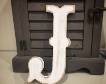 Painted Wooden Letter - Large J, Circus Font, 40cm high, 16 inch, any colour, wall letter, wall decor, 18mm
