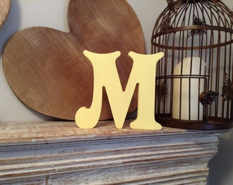Wooden Letter 'M' - 30cm - Victorian Font - various finishes, standing