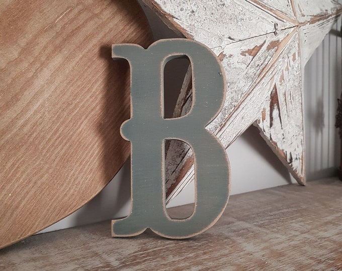 Wooden Letter 'B' -  20cm x 18mm - Circus Font - various finishes, standing