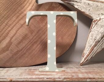 Wooden Letter  'T' - 15cm - Georgian Font - various finishes, standing