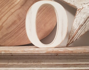 Wooden Letter 'O' - 30cm - Victorian Font - various finishes, standing