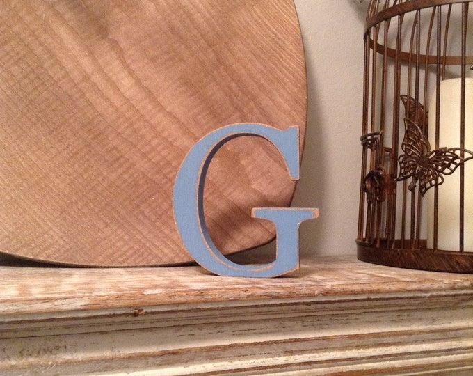 Wooden Letter 'G' -  30cm - Georgian Font - various finishes, standing