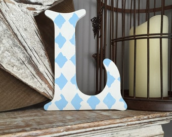 Wooden Wall Letter - Hand-Painted - Victorian Font - L, 20cm