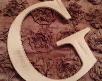 Giant Wooden Letter - G - Times Roman Font, 50cm high, 20 inch, any colour, wall letter, wall decor - various colours & finishes