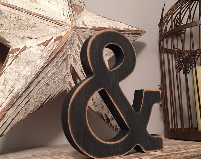 Wooden Letter Ampersand, and - 30cm x 18mm, Freestanding - Rockwell Font - Various sizes, finishes and colours