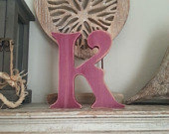 Wooden Letter 'K' - 30cm - Victorian Font - various finishes, standing