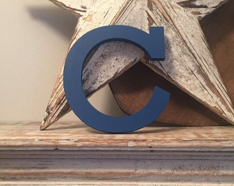Wooden Letter 'C' - 10cm - Rockwell Font - various finishes, standing