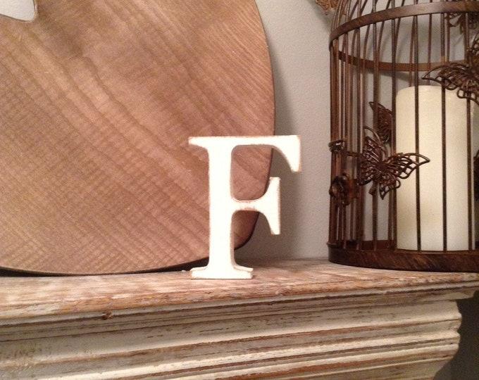 Wooden Letter 'F' -  30cm - Georgian Font - various finishes, standing