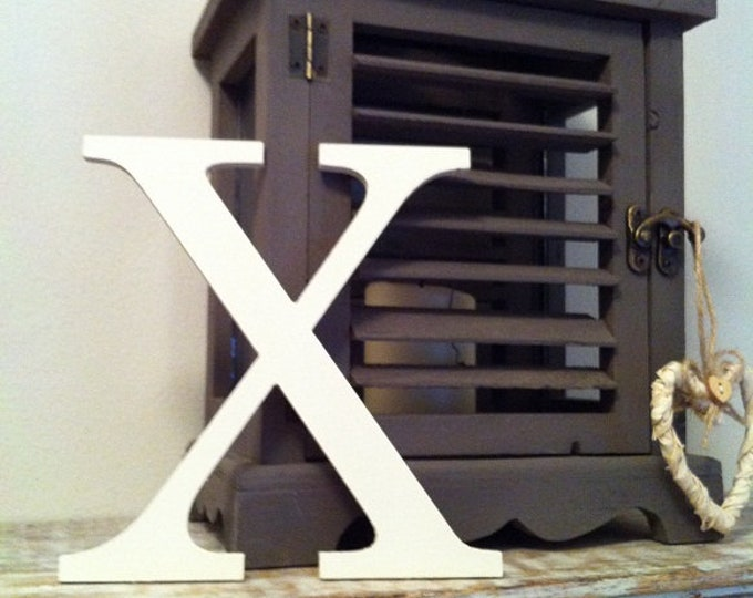 Wooden Letter 'X' -  20cm x 18mm - Georgian Font - various finishes, standing