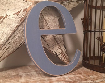 Handpainted Wooden Wall Letter - 'e' - New Times Roman - large lowercase, 20cm x 9mm
