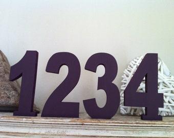 Wedding Table Numbers - Handpainted & Freestanding - Set of 11 - 15cm high