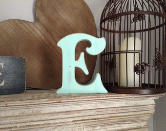 Wooden Letter 'E' - 30cm - Victorian Font - various finishes, standing