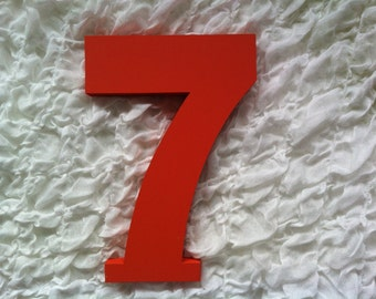 Decorative Freestanding Wedding Table Numbers - Ariel Font - 25cm high - Number 7