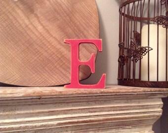 Wooden Letter 'E' -  25cm x 18mm - Georgian Font - various finishes, standing