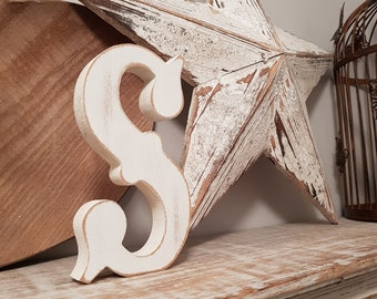 Painted Wooden Letter - Large Letter S,  Circus Font, 30cm, any colour, wall letter, wall decor, 18mm