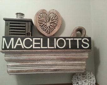 Personalised Family Surname Sign - 10cm high - length depends on surname