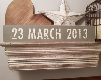 Wedding, Save the Date Sign, Engagement, Anniversary, Proposal, Photo Prop, Wooden Sign, Rustic, Vintage, Shabby Chic, choice of colours