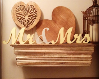Wooden Mr & Mrs, 12cm high
