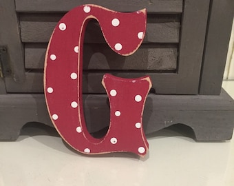 Painted Wooden Letter G - Large , Fairytale Font, 50cm high, almost 20 inch, any colour, wall letter, wall decor, 18mm