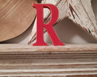 Painted Wooden Letter - Large Letter R,  Georgian Font, 30cm, any colour, wall letter, wall decor, 9mm