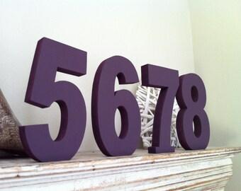 Wedding Table Numbers - Handpainted & Freestanding - Set of 11 - 20cm high