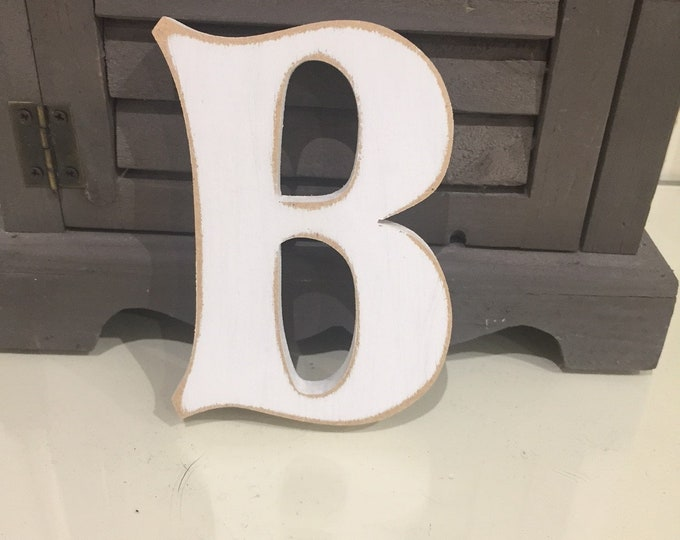 Wooden Letter 'B' -  30cm x 9mm - Fairytale Font - various finishes, standing
