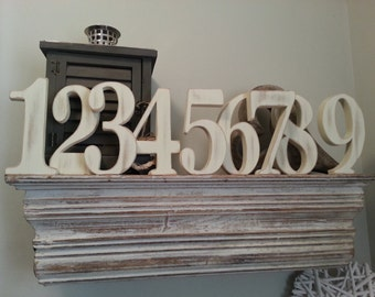 Wooden Wedding Numbers, 25cm