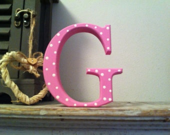 Wooden Painted Letter 'G' - 40cm - Georgia Style Font