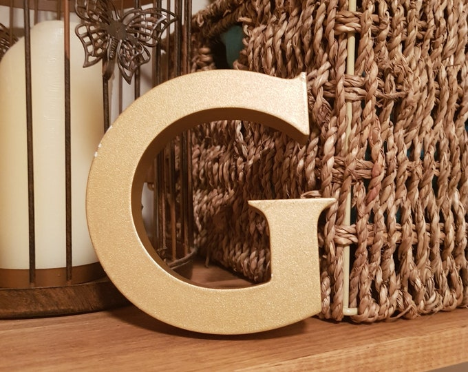 Reclaimed Letter G, Pub, Shop, Resin, Vintage, 12cm