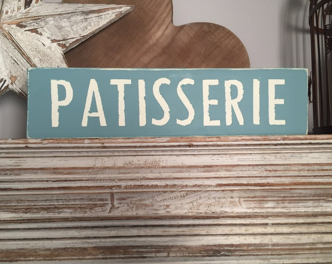 Featured listing image: Wooden Sign - Patisserie - 40cm