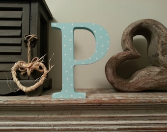 Freestanding Wooden Letter 'P'  - 20cm - Georgia Style Font