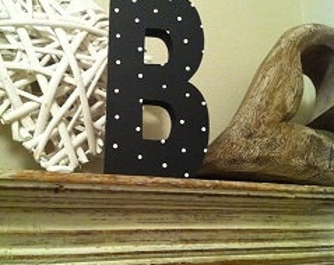 Wooden Letter 'B' -  15cm x 18mm - Arial B Font - various finishes, standing