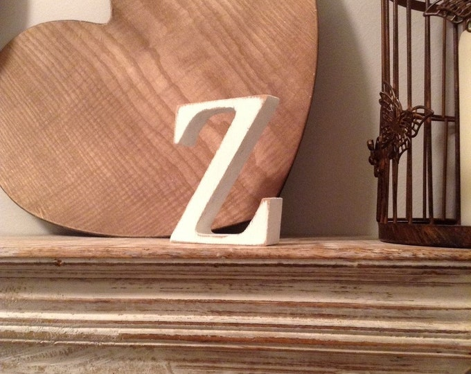 Wooden Letter 'Z' -  25cm - Georgian Font - various finishes, standing