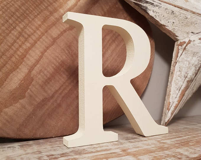 Wooden Letter 'R' -  30cm - Georgian Font - various finishes, standing