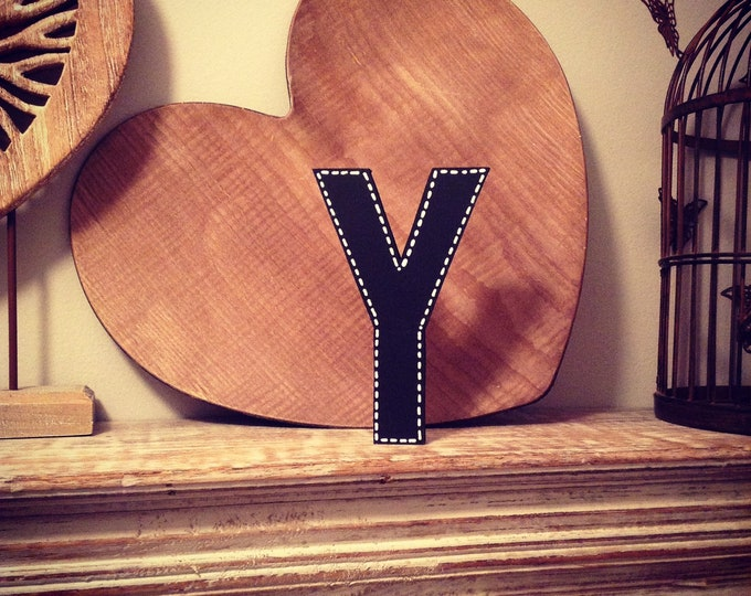 Wooden Letter Y - 15cm, Freestanding - Ariel Font - Various sizes, finishes and colours