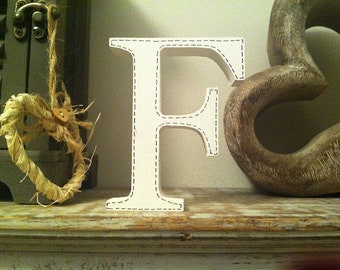 Wooden Letter F - 20cm, Freestanding - Georgian Font - Various sizes, finishes and colours