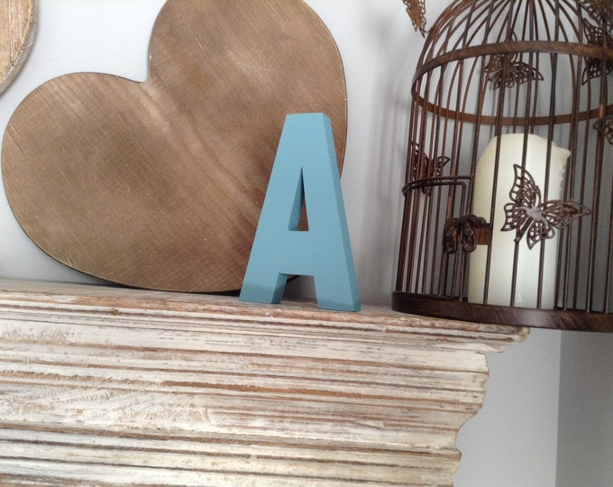 Wooden Letter 'A' -  10cm x 18mm - Ariel Font - various finishes, standing