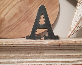 Wooden Letter 'A' -  25cm x 18mm - Typewriter Font - various finishes, standing