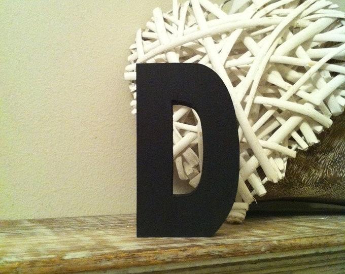 Wooden Letter 'D' -  15cm x 18mm - Ariel Font - various finishes, standing