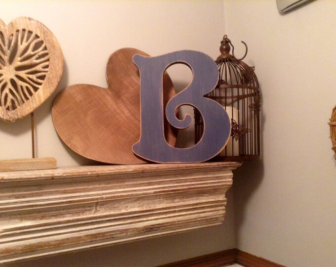 Wooden Letter 'B' -  15cm x 18mm - Victorian Font - various finishes, standing