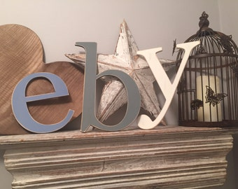 Wooden Wall Letters - lowercase - Roman Font - Various sizes, finishes and colours, price is per letter - 10cm-15cm