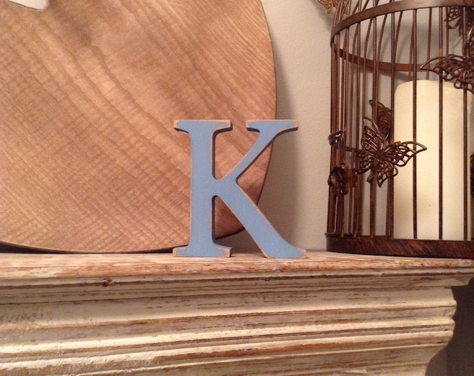 Wooden Letter 'K' -  25cm - Georgian Font - various finishes, standing
