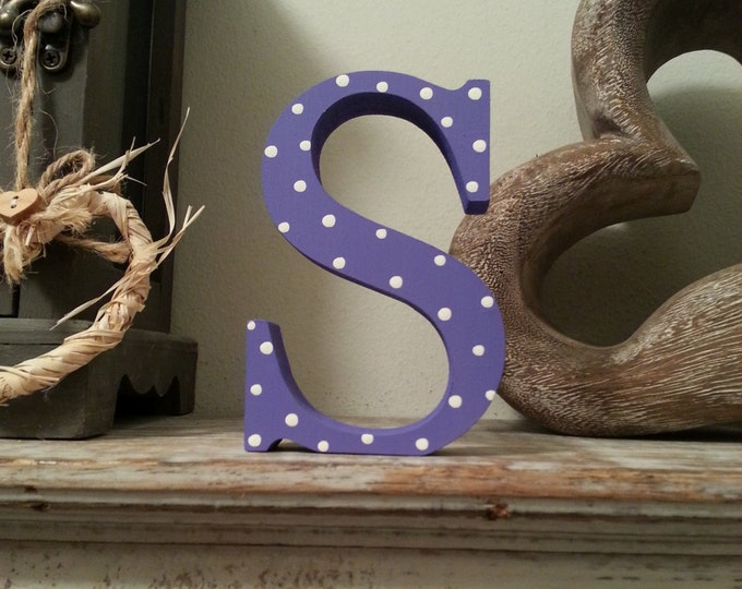 Wooden Letter 'S'  - 15cm - Georgia Style Font, standing
