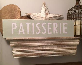 Handmade Wooden Sign - Patisserie - 60cm