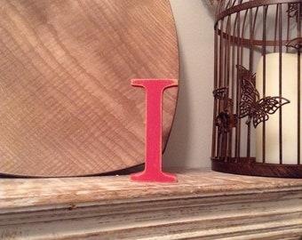 Wooden Letter 'I' - 15cm - Georgian Font - various finishes