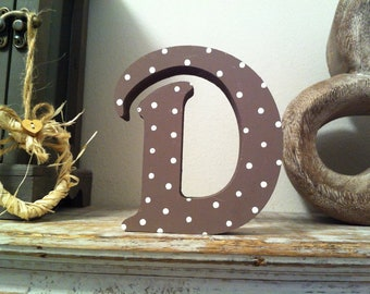 Wooden Letter 'D' - 30cm - Victorian Font - various finishes, standing
