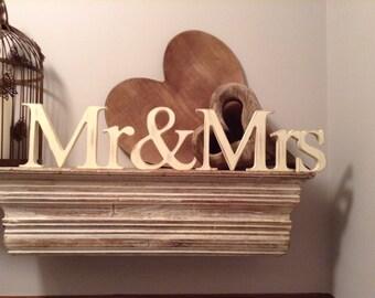 Painted Wedding Letters - Mr & Mrs - New Georgian Font, 10cm