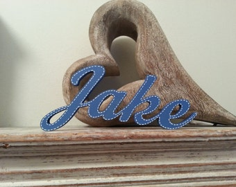 Personalised Wooden Name Sign - For Doors, Walls, Etc, Any Colour, Price per letter - 10cm high